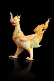 Thai style a molded figure of swan that an animals in fairy tale Royalty Free Stock Photos