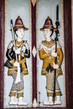 Thai style molding art on the door at Wat Phra Kaew temple, Thai Royalty Free Stock Photo
