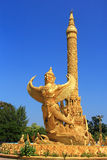 Thai style molding art. In temple Stock Photography