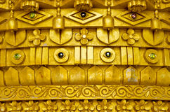 Thai style molding art at Wat Pasawangboon temple Stock Photography