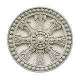 Thai style molding wheel of life with clipping Stock Photography