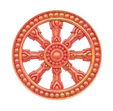 Thai style molding wheel of life isolated on white Royalty Free Stock Image