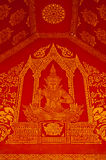 Thai style mural. Ancient thai painting on wall in thailand buddha temple royalty free stock image