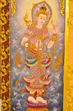 Thai-style murals. Thai-style murals at the temple in Thailand Royalty Free Stock Image
