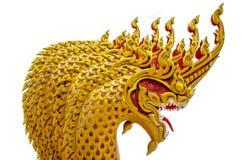 Thai Style Naga Head Royalty Free Stock Photography