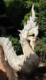 Thai style naga statue. Royalty Free Stock Images