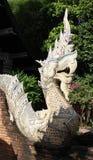 Thai style naga statue. Royalty Free Stock Images