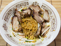 Thai style noodle with duck meat. Thai noodle with duck meat royalty free stock images