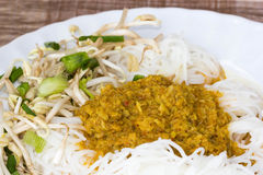 Thai style noodle eaten with curry Royalty Free Stock Photography