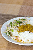 Thai style noodle eaten with curry Stock Images
