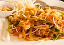 Thai style noodle with fresh shrimp Stock Photography
