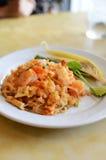 Thai style noodle with fresh shrimp Royalty Free Stock Photos