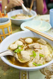 Thai style noodle with meatballs Stock Photo