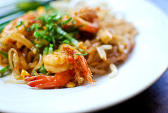 Thai style noodle , Pad thai. Thai style noodle with fresh shrimp , Pad thai , Thailand stock photo
