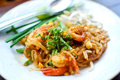 Thai style noodle , Pad thai Stock Photo