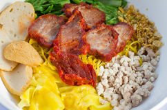 Thai style noodle with pork Royalty Free Stock Photos