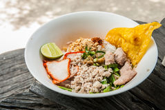 Thai style noodle- Sukhothai noodles Royalty Free Stock Photography