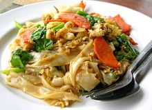 Thai style noodles Royalty Free Stock Photography