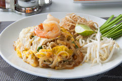 Thai style noodles stock photography