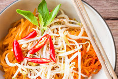 Thai style noodles, Pad-Thai Stock Image