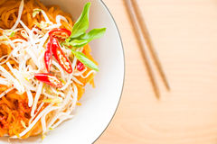 Thai style noodles, Pad-Thai Royalty Free Stock Photography