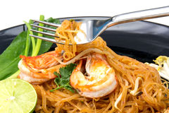 Thai style noodles, Pad Thai Royalty Free Stock Image