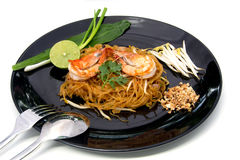 Thai style noodles,Pad Thai Royalty Free Stock Photography