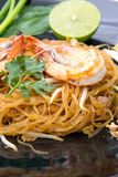 Thai style noodles,Pad Thai Stock Photo