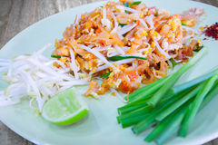 Thai style noodles. Thailand's national dishes, stir-fried rice noodles (Pad Thai Royalty Free Stock Photography