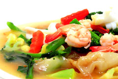 Thai style noodles with vegetables Stock Photography