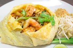 Thai style noodlespad thai Royalty Free Stock Image