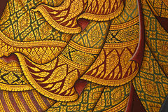 Thai style painting art Stock Images