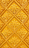 Thai style pattern design handcraft on wood Stock Photography