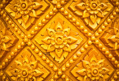 Thai style pattern design handcraft on wood Royalty Free Stock Photos