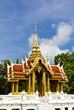 Thai style pavilion. On the lotus pool royalty free stock images