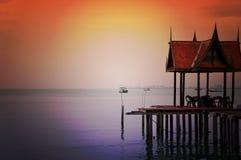 Thai style pavilion Royalty Free Stock Image
