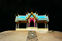 Thai style pavilion in the cave in sam roi yod, Thailand Royalty Free Stock Image