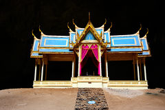 Thai style pavilion in the cave in sam roi yod, Thailand Stock Photos