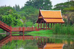Thai style pavilion Stock Photography