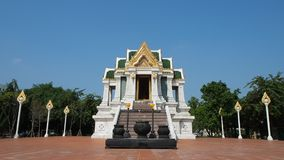 Thai style pavilion Hor Phra Puthamingmongkol Tammasataan stock video footage