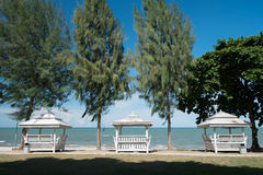 Thai Style Pavilion at Hua Hin Beach, Petchaburi, Thailand Royalty Free Stock Image
