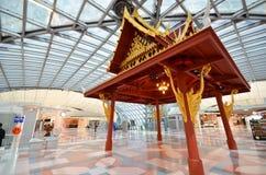 Thai style pavilion in Suvarnabhumi Airport Royalty Free Stock Image