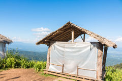Thai style pavilion with thatched roof Royalty Free Stock Image
