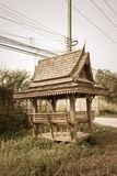 Thai style pavilion with vintage filter Stock Photography