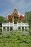 Thai-style pavilion, water. Stock Images