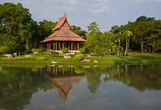 Thai style pavillion in garden Royalty Free Stock Photo
