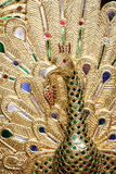 Thai style peacock wood carving Royalty Free Stock Photos