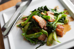 Thai style pork dish Royalty Free Stock Images