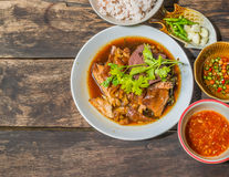 Thai Style pork leg pot stewed Stock Images