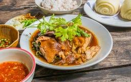 Thai Style pork leg pot stewed Stock Image